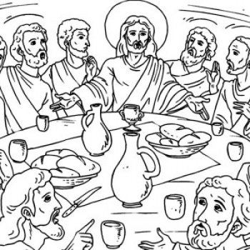 jesus teaching last supper